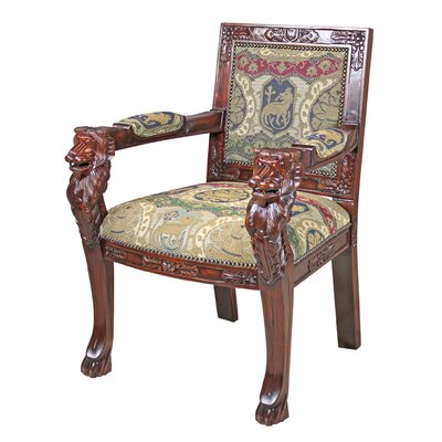 Beardsley Heraldic Lion Fabric Armchair