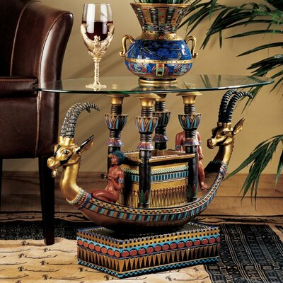 Egyptian Barge To The Beyond Coffee Table