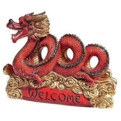 Asian Zen Dragon Garden Welcome Statue