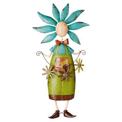 Flower Child Metal Garden Boy Statue FU71632