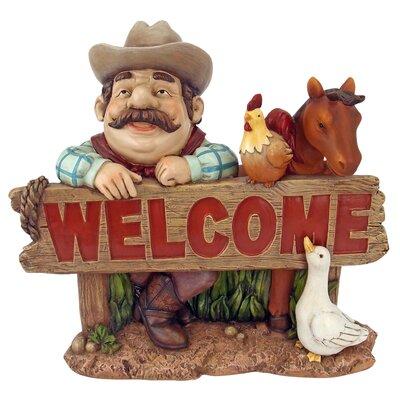 Cowboy Cody Western Welcome Statue HF6122