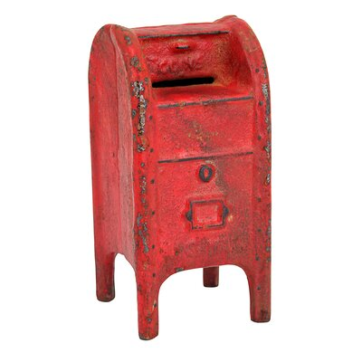 Mail Post Box Still Action Die-Cast Iron Coin Bank