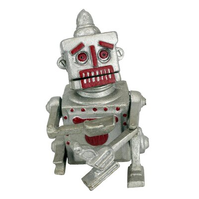 Robert the Robot Die-Cast Iron Mechanical Coin Bank