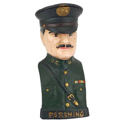 General John J. Black Jack Pershing Still Action Die-Cast Iron Bank