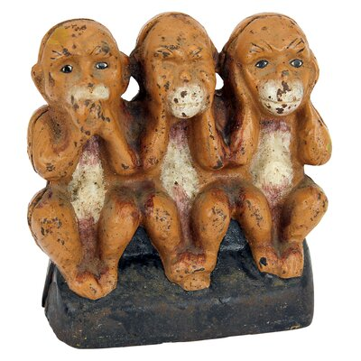 Speak No, See No, Hear No Evil Monkeys Still Action Die-Cast Iron Coin Bank