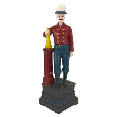 Victorian Fire Chief Still Action Die-Cast Iron Bank