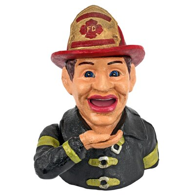 Firemans Fund Die-Cast Iron Mechanical Coin Bank