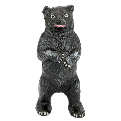 Standing Black Bear Still Action Die-Cast Iron Coin Bank