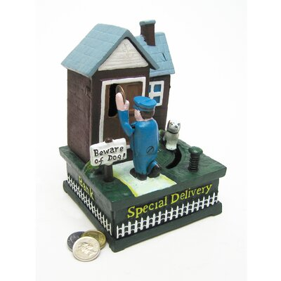 Special Delivery Mailman Authentic Foundry Mechanical Bank