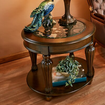 Casa Grande Glass Topped Coffee Table with Magazine Rack
