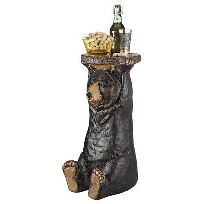 Cheap Design Toscano Black Forest Bear Pedestal Table (TXG1037)