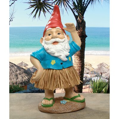 Hawaiian Hank Grass Skirt Gnome Statue AL60159