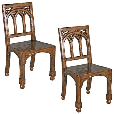 Gothic Revival Rectory Side Chair Set: Set of 2
