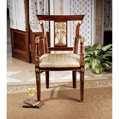 British Colonial Plantation Fabric Armchair