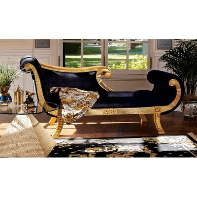 Cleopatra Neoclassica Fabric Chaise Lounge