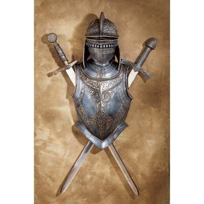16th Century Nunsmere Hall Battle Armor Set in Faux Silver and Bronze