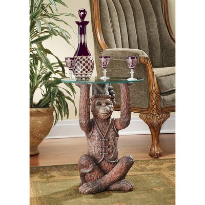 Moroccan Monkey Business Sculptural End Table