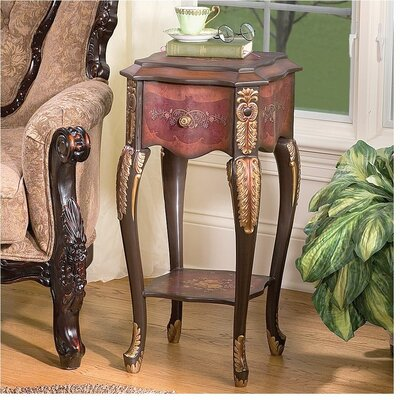 Floral Bouquet Chiffoniere End Table