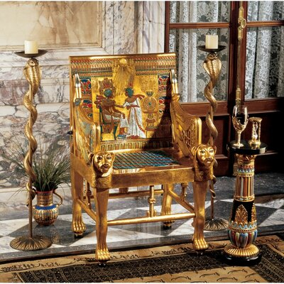 King Tutankhamens Egyptian Throne Armchair