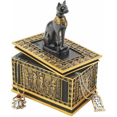 Design Toscano Royal Bastet Egyptian Box in Gold and Ebony (Set of 2) at Sears.com