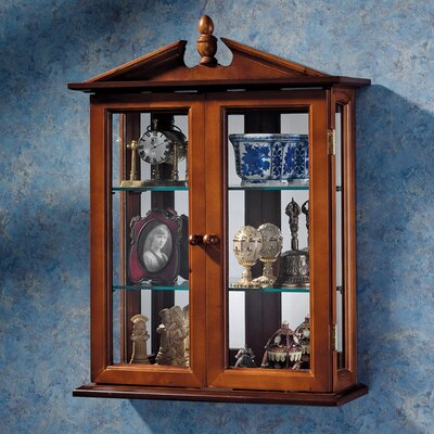Amesbury Manor Wall-Mounted Curio Cabinet