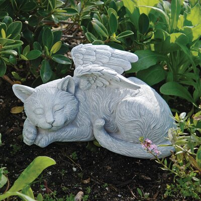 Cat Memorial Angel Pet Statue