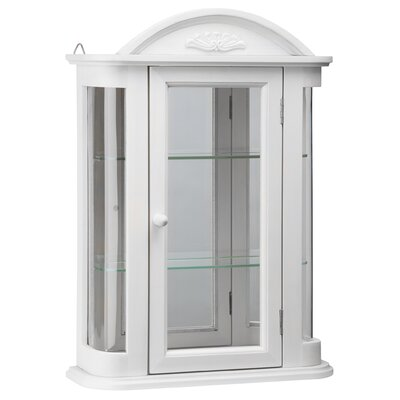 Rosedale Hardwood Wall Mounted Curio Cabinet Color: White