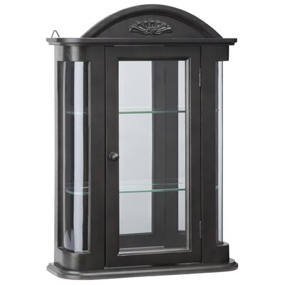 Rosedale Hardwood Wall Mounted Curio Cabinet Color: Ebony Black