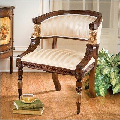 Egyptian Revival Fabric Barrel Chair