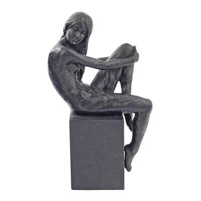 Visions of Monique Nude Female Holding Knee Studies Figurine WU74632