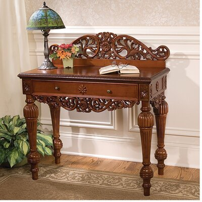 Cheap Design Toscano British Colonial Hand-Carved Console Table (TXG1952)