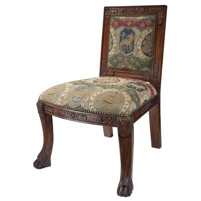Beardsley Heraldic Lion Fabric Side Chair
