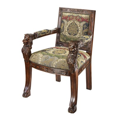 Beardsley Heraldic Lion Fabric Armchairs