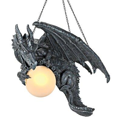 Nights Fury Sculptural Hanging Dragon 1-Light Mini Pendant