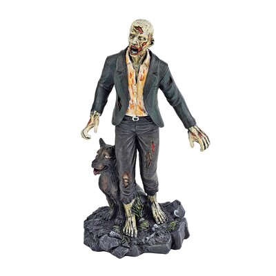 Dead Walking Zombie with Wolf Figurine CL6125