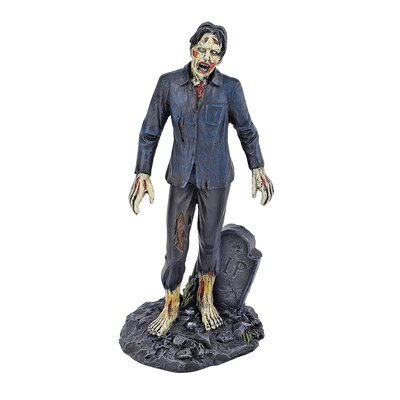 Dead Walking Zombie with Tombstone Figurine CL6126