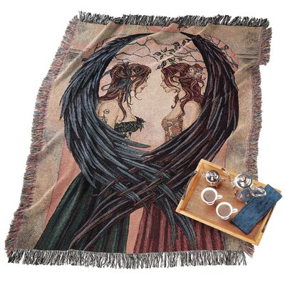 Angel Sisters Cotton Throw Blanket