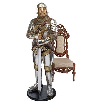 Medieval Knight of the Round Life-Size Statue