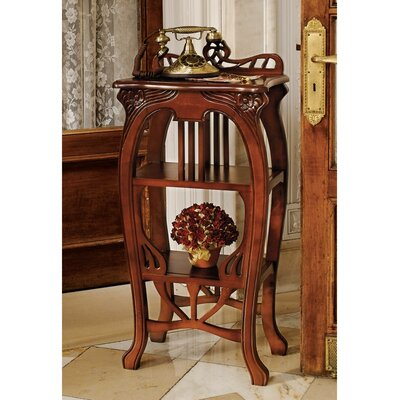 Art Nouveau Harp End Table