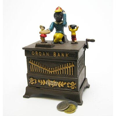 Monkey Organ Grinder Collectors Die Mechanical Coin Bank