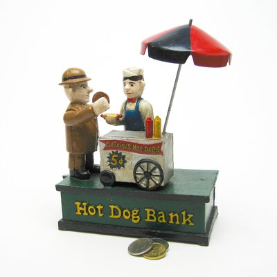 Hot Dog Collectors Die Mechanical Coin Bank