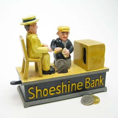 Shoe Shine Collectors Die Mechanical Coin Bank