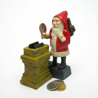 Santa at the Chimney Collectors Die Mechanical Coin Bank