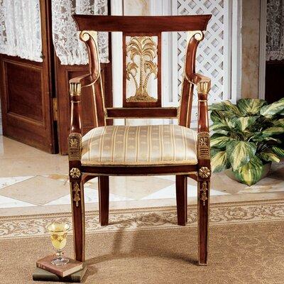 British Colonial Plantation Fabric Arm Chair