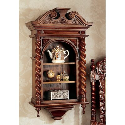Charles II Wall-Mounted Curio Cabinet
