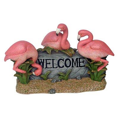 Flamingo Welcome Statue EU0541