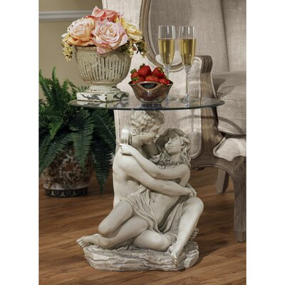 In the Arms of Romance End Table
