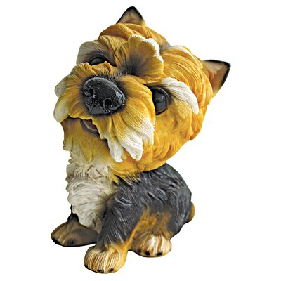 Design Toscano Yorkshire Prized Pup Terrier Puppy Dog Figurine