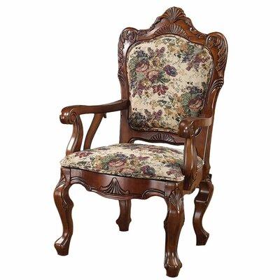Emily Dickinson Floral Jacquard Fabric Armchair