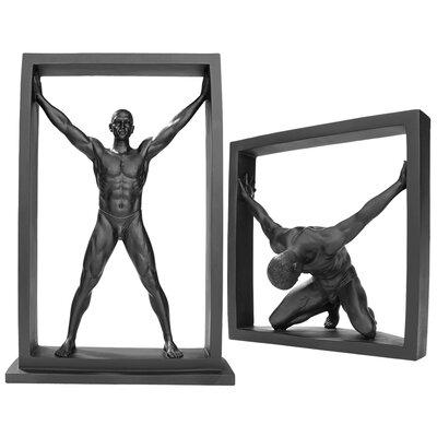 2 Piece Boxed In Modern Male Nude Figurine WU975777